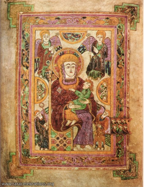 Book of Kells mother and child