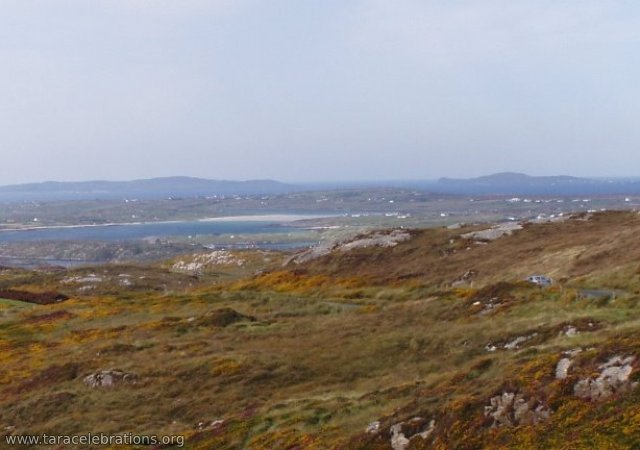 looking to Inishbofin from the sky road nr Clifdena