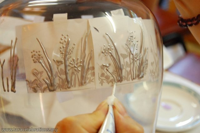 glass painting plants